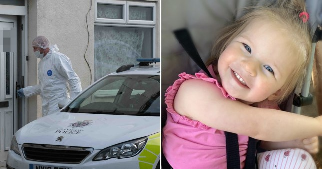 Toddler Grace Thorpe, two, who died in Royal Victoria Infirmary, Newcastle after being found injured in a home in  the village of New Marske