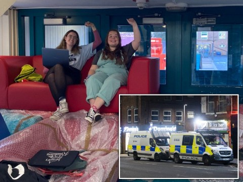 Students occupying uni in rent protest threaten to stay 'for weeks' as building surrounded