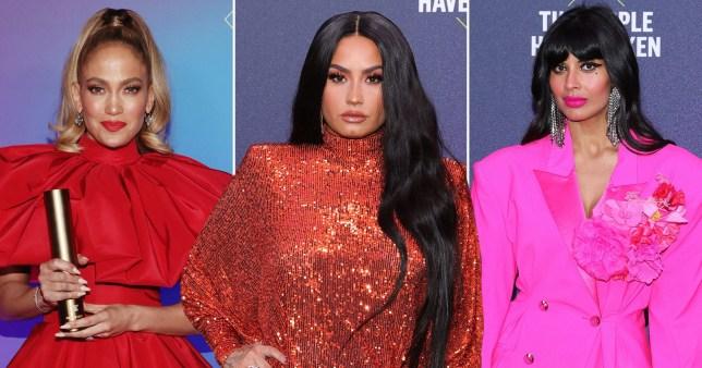 People's Choice Awards - Jennifer Lopez, Demi Lovato and Jameela Jamil