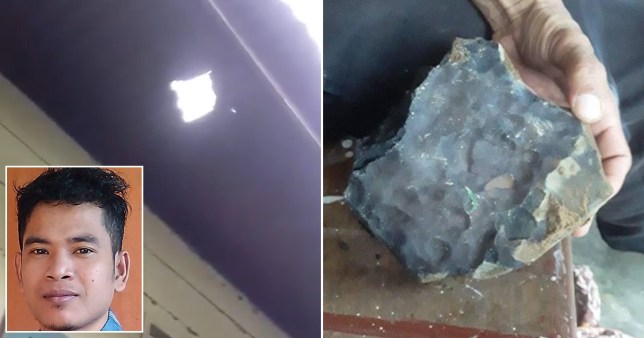 Indonesian man becomes instant millionaire when meteorite worth ?1.4m crashes through his roof