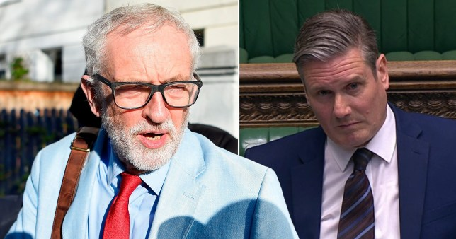 Picture of Corbyn and Keir Starmer