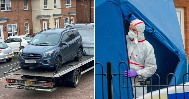 A man was charged with murder after a woman was stabbed and then run over outside her home in Tamworth, Staffordshire.