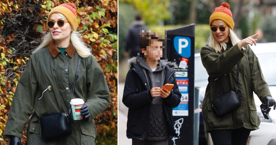 Holly Willoughby pictured out in London with son Harry