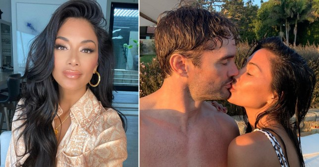 Nicole Scherzinger in glam selfie and pictured kissing Thom Evans on beach