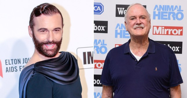 Jonathan Van Ness and John Cleese