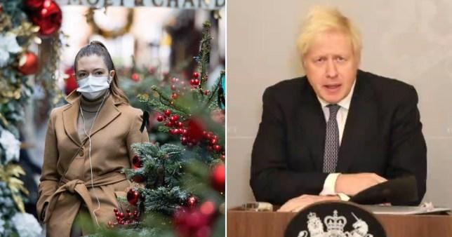 Boris Johnson and a Christmas scene