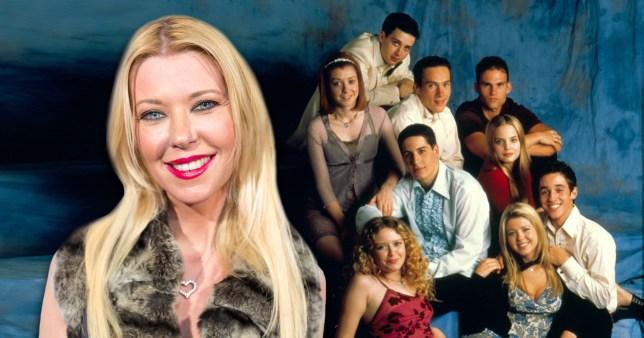 Tara Reid and the American Pie cast