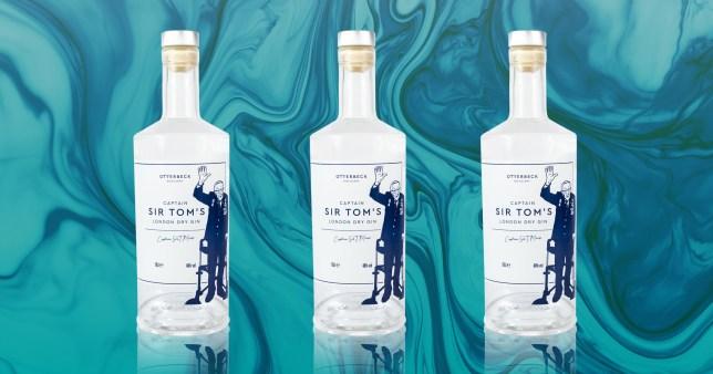 Captain Sir Tom Moore gin bottles