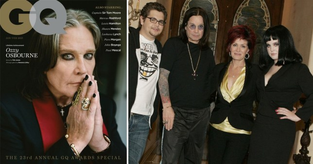 Ozzy, Jack, Sharon and Kelly Osbourne.