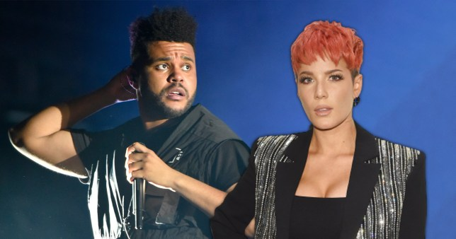 The Weeknd pictured alongside Halsey