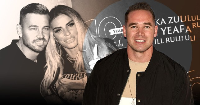 Katie Price and Carl Woods on red carpet