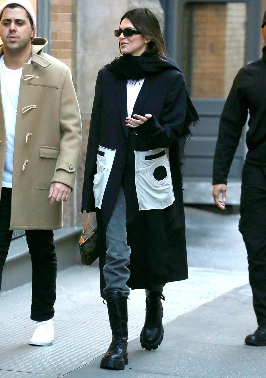 Kendall Jenner out and about wearing chunky soled boots
