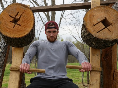 Man builds wooden gym in his garden just in time for lockdown