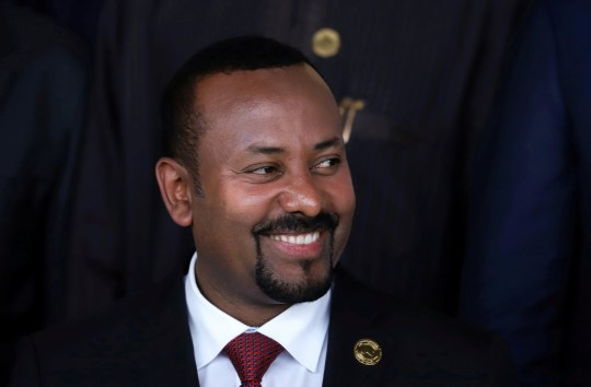 FILE PHOTO: Ethiopia's Prime Minister Abiy Ahmed poses for a photograph during the opening of the 33rd Ordinary Session of the Assembly of the Heads of State and the Government of the African Union (AU) in Addis Ababa, Ethiopia, February 9, 2020. REUTERS/Tiksa Negeri/File Photo