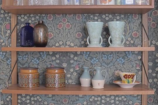 Lauren Bravo's shelves in her home