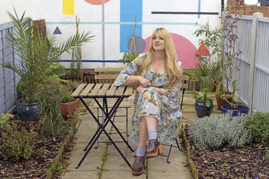 lauren bravo in her garden