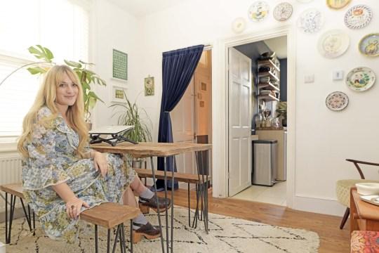 lauren bravo in her dining space