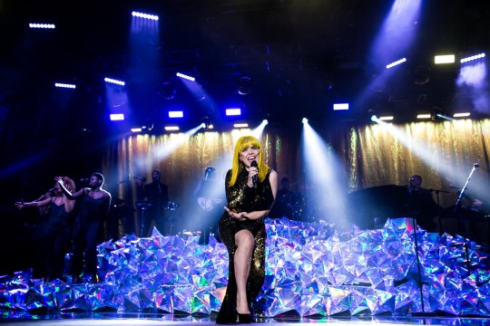 BATH, ENGLAND - MAY 26: Paloma Faith performs at Bath Recreation Ground on May 26, 2018 in Bath, England. (Photo by Mike Lewis Photography/Redferns)