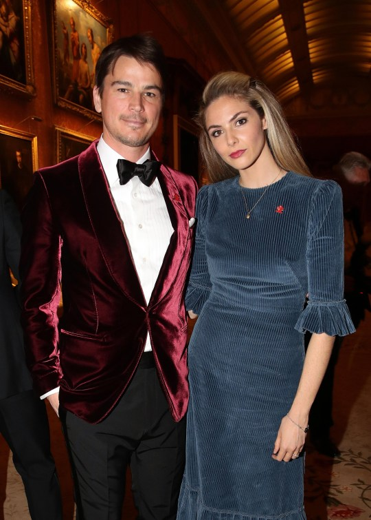 Mandatory Credit: Photo by REX (10152314v) Josh Hartnett and Tamsin Egerton attend a dinner to celebrate The Prince's Trust 'The Prince's Trust' Dinner, Buckingham Palace, London, UK - 12 Mar 2019 The Prince of Wales, President, The Princes Trust Group hosted a dinner for donors, supporters and ambassadors of Princes Trust International.