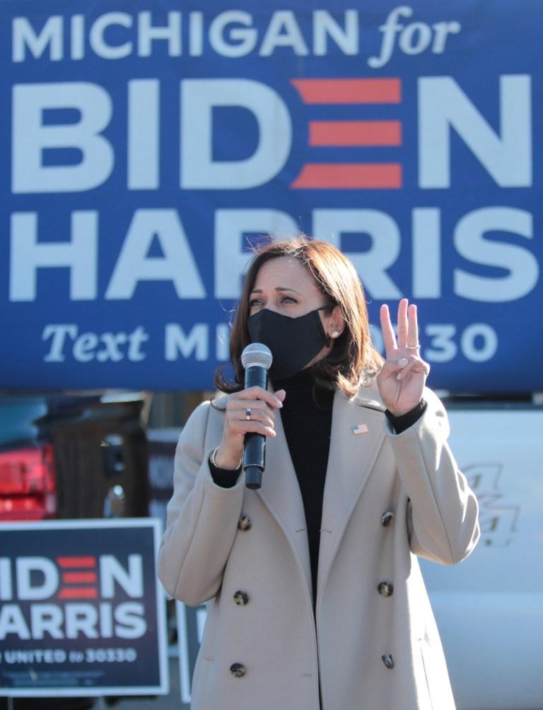 Kamala Harris at a biden rally