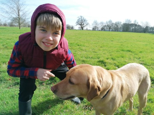 George and dog Ollie at the park