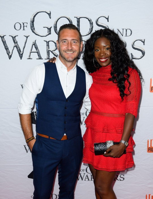 Mandatory Credit: Photo by Stephen Pover/REX (9766080al) Will Mellor (actor) and Michelle McSween 'Of Gods and Warriors' film premiere, London, UK - 19 Jul 2018