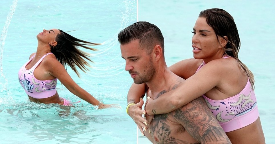 Katie Price and Carl Woods in the Maldives