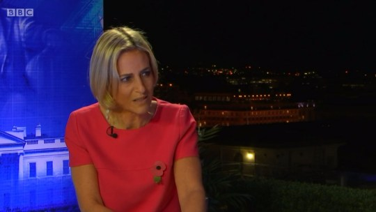 Emily Maitlis praised as she keeps her cool during interview with 'deluded' Trump candidate Picture: BBC