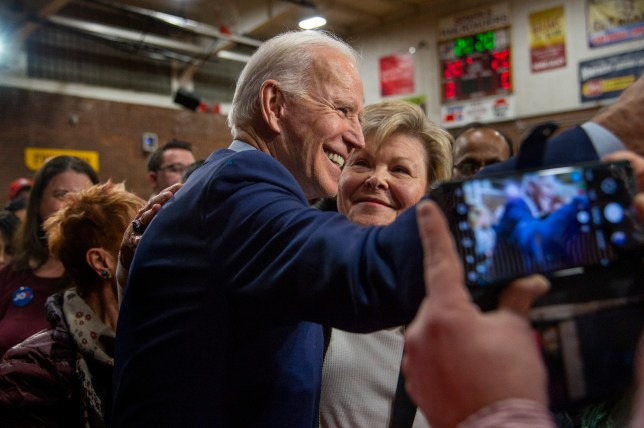 January 10, 2020, Sparks, Nevada, USA: Democratic Presidential candidate JOE BIDEN, 77, poses for selfies after a campaign rally at Sparks High School in Sparks on Friday. 10 Jan 2020 Pictured: January 10, 2020, Sparks, Nevada, USA: Democratic Presidential candidate JOE BIDEN, 77, poses for selfies after a campaign rally at Sparks High School in Sparks on Friday. Photo credit: ZUMAPRESS.com / MEGA TheMegaAgency.com +1 888 505 6342