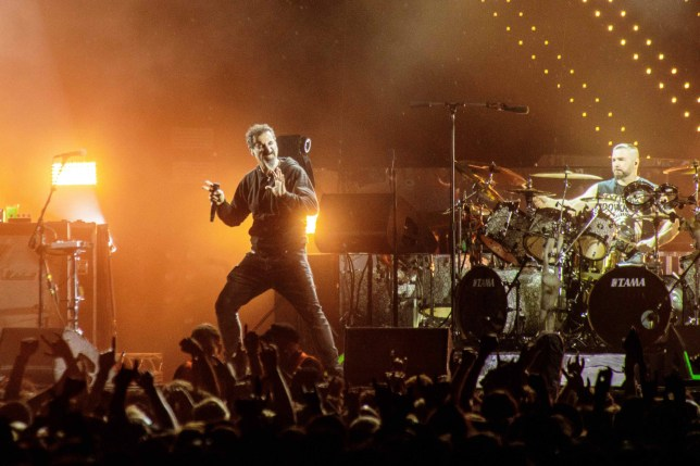 The American heavy metal band System of a Down performs a live concert during the Danish heavy metal music festival Copehell 2017 in Copenhagen. Here vocalist is seen live on Serj Tankian. Denmark, 22/06 2017. (Photo by: PYMCA/Avalon/Universal Images Group via Getty Images)