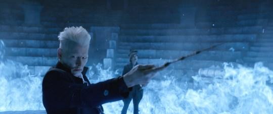 Johnny Depp as Gellert Grindelwald in 'Fantastic Beasts: The Crimes of Grindelwald' Film - 2018