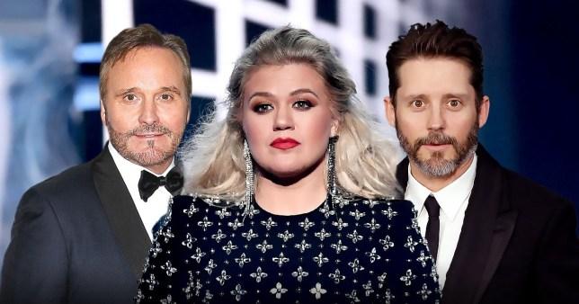 Kelly Clarkson, Narvel Blackstock and Brandon Blackstock