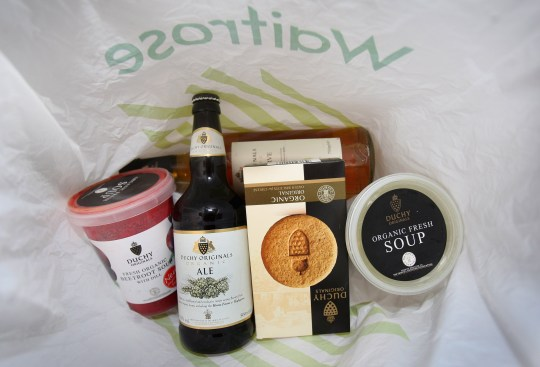 waitrose products in shopping bag