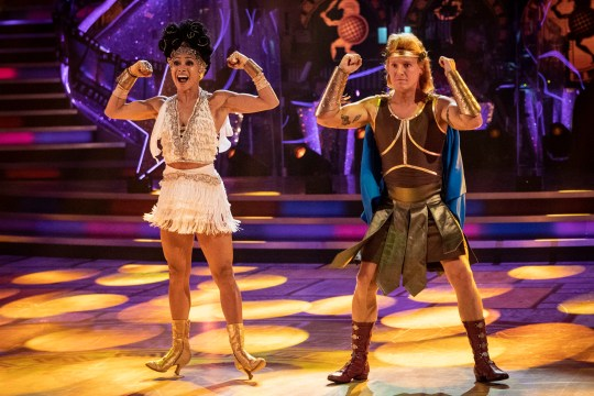 Jamie Laing and Karen Hauer perform Hercules dance on Strictly Come Dancing