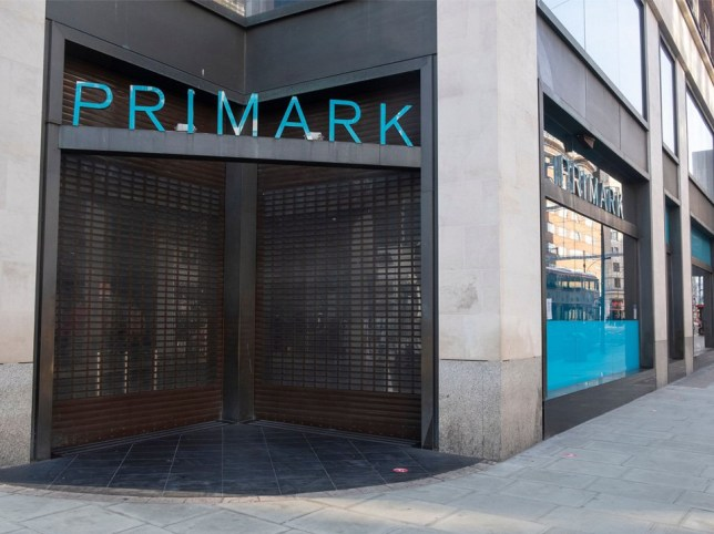 Primark store is closed in Oxford Street due to the trading restrictions of the second Covid-19 national lockdown. Businesses including shops, bars, and restaurants are closed to customers during a month long closure. The West End would normally be busy with weekend shoppers Quiet West End streets during 2nd Covid-19 National Lockdown, London, UK - 07 Nov 2020