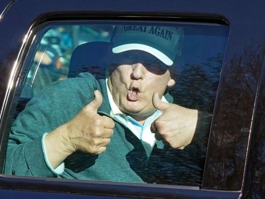 Trump going golfing