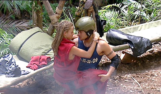 Editorial use only Mandatory Credit: Photo by ITV/REX (443235z) Jordan [Katie Price] [KATIE PRICE] AND PETER ANDRE 'I'M A CELEBRITY, GET ME OUT OF HERE' TV PROGRAMME, AUSTRALIA - 04 FEB 2004