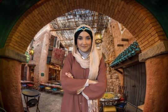 Sabeen Faheem Minhaz, 29, Recreating Princess Jasmine in market scene