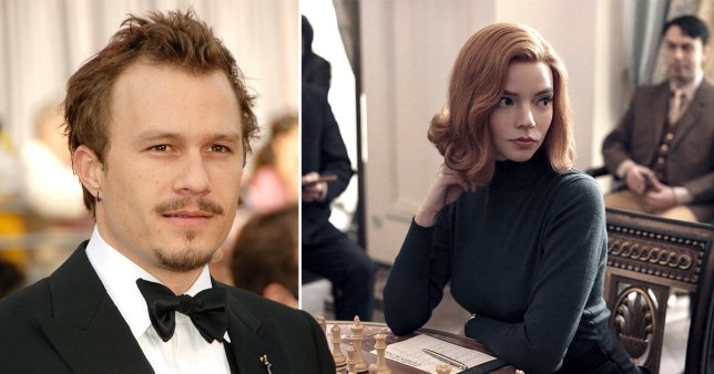 Heath Ledger and Anya Taylor-Joy in The Queen's Gambit on Netflix