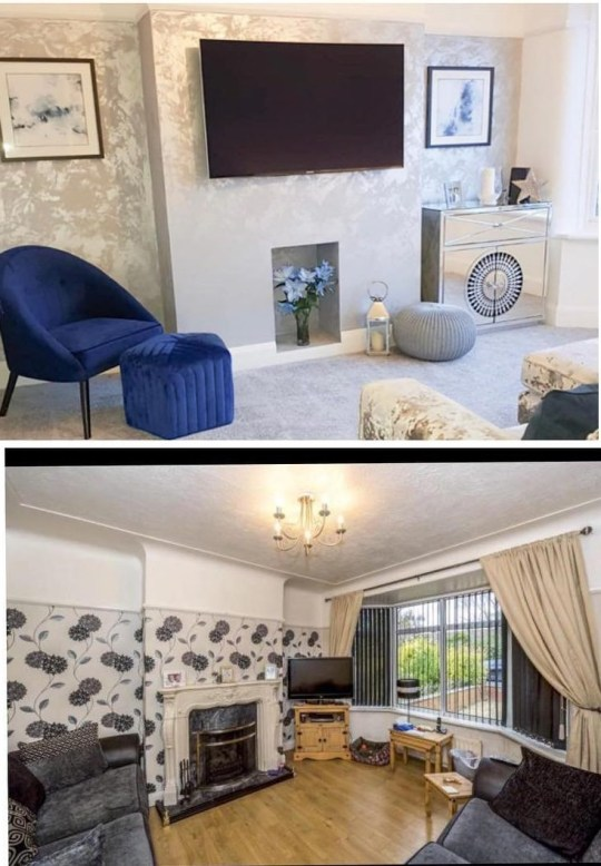 Mum with no DIY experience revamps house - adding £110,000 to the value