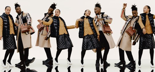 models in new Burberry campaign