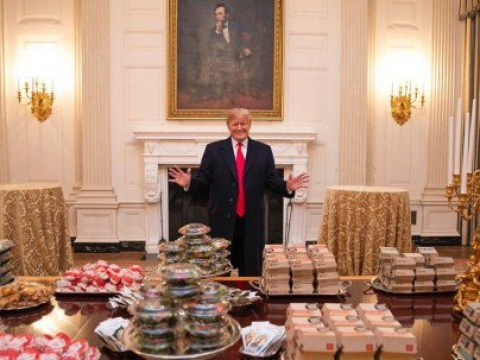 White House staff light scented candles 'to mask smell of fast food delivered to Trump'