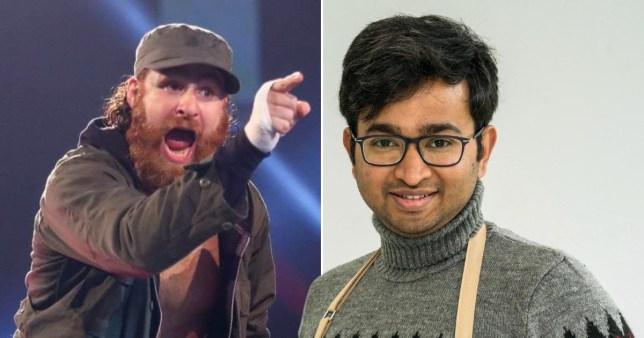 WWE's Sami Zayn loves Bake Off winner Rahul PICS: WWE/Channel 4
