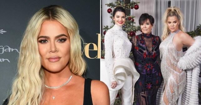 Khloe Kardashian at family Christmas party