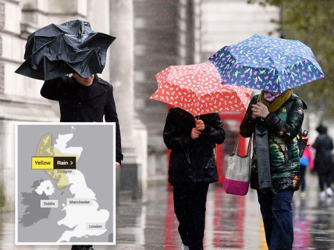 Nearly a month's worth of rain to lash the UK in just 24 hours