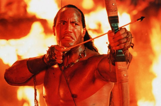 The Rock as The Scorpion King - 2002