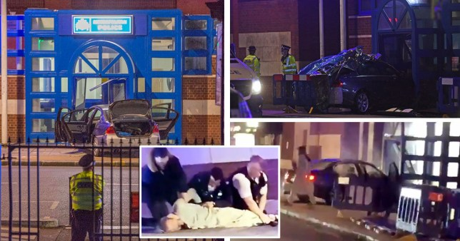 Car crashing into Edmonton police station 'not terror related' PA|Getty Images