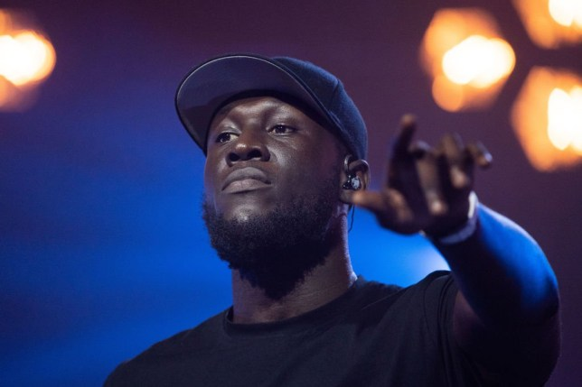 LONDON, ENGLAND - OCTOBER 31: Stormzy performs on stage during McDonald's I'm Lovin' It Live at The Printworks on October 31, 2020 in London, England. (Photo by Dave J Hogan/Getty Images)