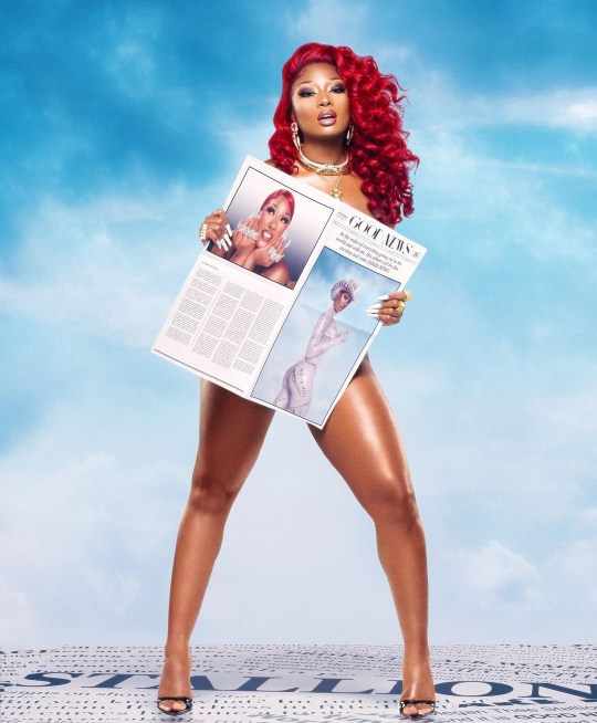 Non Exclusive: ***NO MAIL ONLINE UNLESS AGREED*** With the official announcement of her highly anticipated debut album, Megan Thee Stallion is quite literally bringing Good News to hotties everywhere. The Houston rapper took to Instagram and Twitter to break the news on Thursday, revealing the artwork as well as additional imagery of her first full-length project. Referencing the album title, a red-haired Meg wearing layered gold jewelry and black open-toe heels covers her figure with some newspaper printed with stunning portraits of herself. ???Hotties, I first want to say thank you for riding with me, growing with me, and staying down with me since my first mixtape Rich Ratchet,??? Megan writes on social media. ???Through this rough ass year we???ve all been having, I felt like we could all use a lil bit of good news. So with that being said, MY OFFICIAL ALBUM GOOD NEWS IS DROPPING NOVEMBER 20TH. PRE ORDER WILL BE AVAILABLE TONIGHT. #GOODNEWSMEGAN??? The announcement follows the recent release of Megan???s smash hit collaboration with Cardi B, ???WAP,??? which drew over 93 million streams in its first week. Back in June, the artist was among one of the biggest winners at the 2020 BET Awards, as she was honored Best Female Hip Hop Artist and won the Viewer???s Choice Award for ???Hot Girl Summer.??? On top of that, in September, she was named one of TIME???s 100 most influential people in the world. ------- DISCLAIMER: BEEM does not claim any Copyright or License in the attached material. Any downloading fees charged by BEEM are for BEEM's services only, and do not, nor are they intented to, convey to the user any Copyright or License in the material. By publshing this material, the user expressly agrees to indemnify and to hold BEEM harmless from any claims, demands, or causes of action arising out of or connected in any way with user's publication of the material.