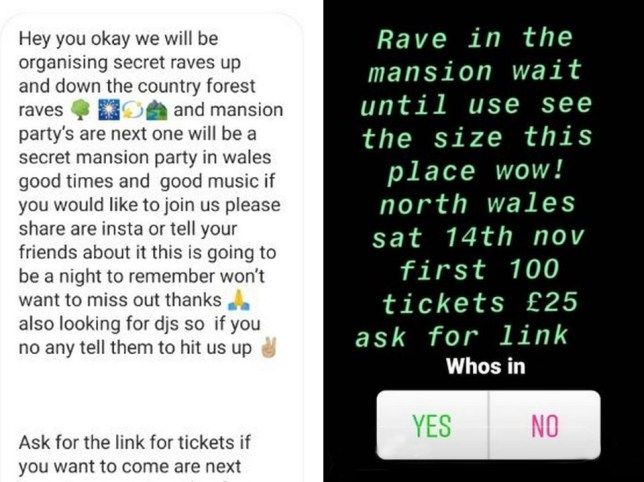 Police hunt location of 'mystery rave' set to take place at country mansion